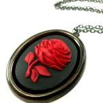 Large Rose Cameo Necklace ..